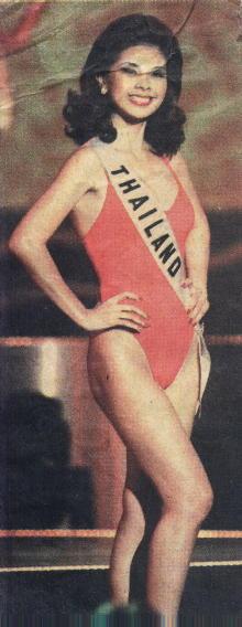 รวมชุดว่ายน้ำของนางงามไทยบนเวที Miss Universe (อดีต-ปัจจุบัน) : ปี 1999 คุณอภิสมัย ศรีรังสรรค์