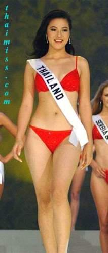 รวมชุดว่ายน้ำของนางงามไทยบนเวที Miss Universe (อดีต-ปัจจุบัน) : ปี 2003 คุณเยาวลักษณ์ ไตรสุรัตน์