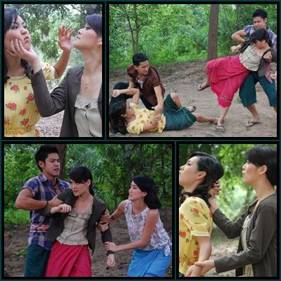 รวมฉากจูบ และ ฉากตบในละครไทย : พิม ปะทะ ปีใหม่ ในชิงชัง