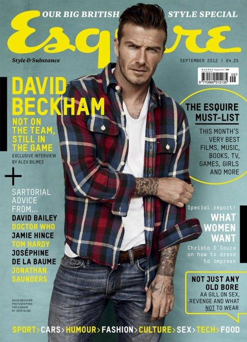 David Beckham @ Esquire UK September 2012 :