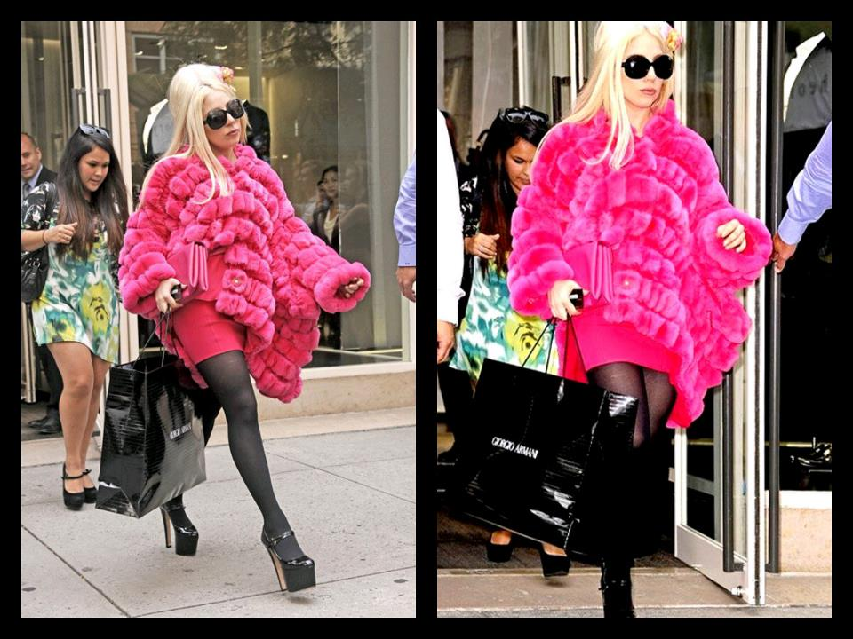 Gaga spotted shopping