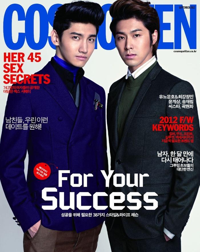 YunHo & ChangMin @ Cosmo Men Korea September 2012 :
