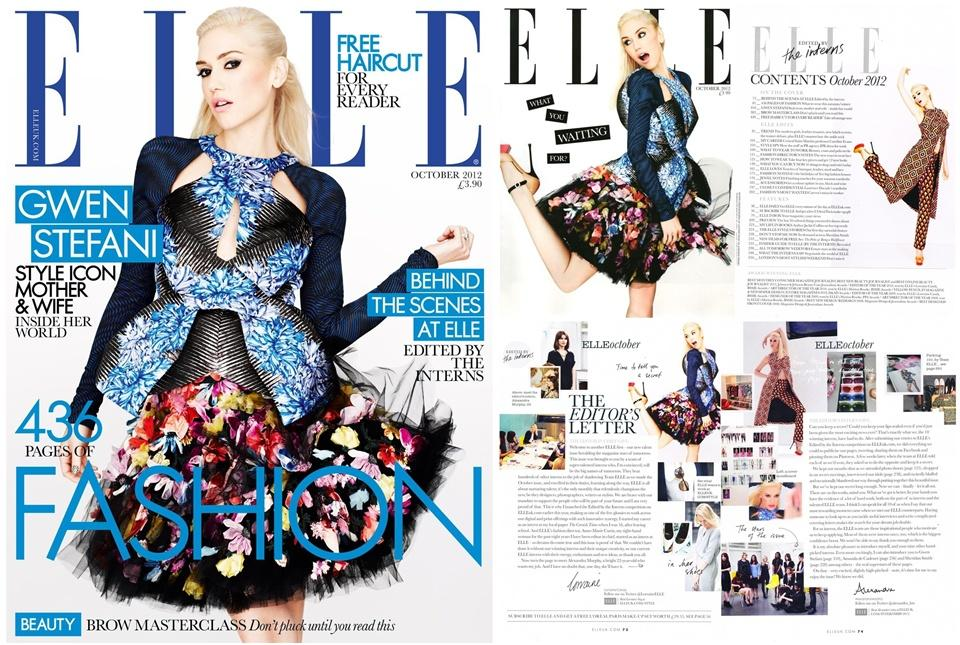 Gwen Stefani @ Elle UK October 2012 :