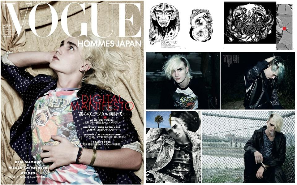 Gryphon O'Shea @ Vogue Hommes Japan #9 F/W 2012 :