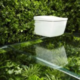 HOUSE VISION 2013 | a bathroom surrounded by green walls and floors