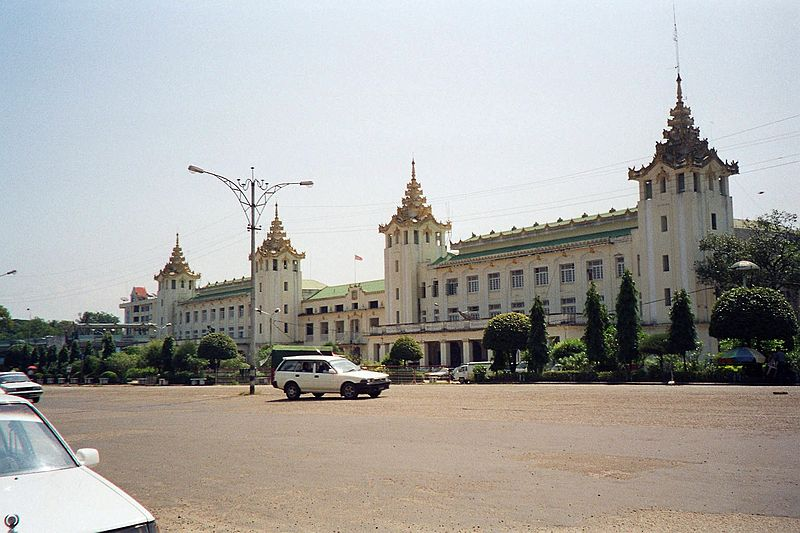 สถานีรถไฟ(Train/Railway Station/Terminal) Train Series 4 : Yangon Central Railway Station, Burma