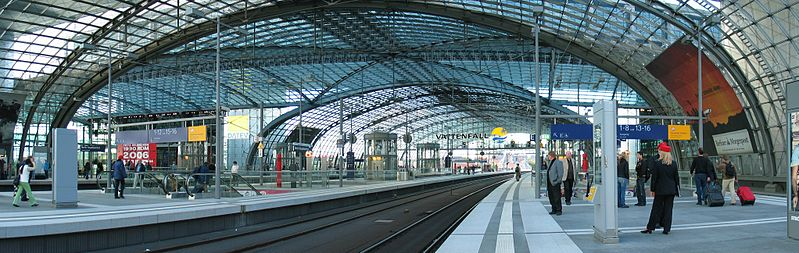 สถานีรถไฟ(Train/Railway Station/Terminal) Train Series 4 : Berlin Hauptbahnhof, Berlin, Germany