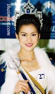 นางสาวไทยอดีตและปัจจุบันในแต่ละปีจากปี2537 : ชาลิสา บุญครองทรัพย์ นางสาวไทยป2546