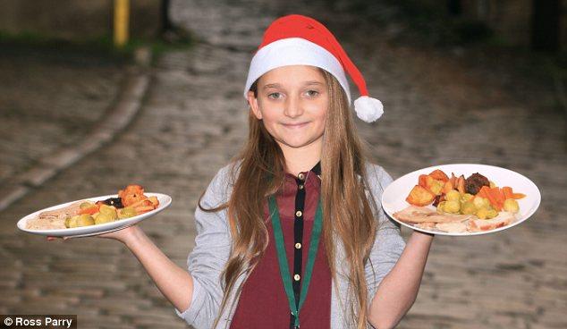 เกรซี่ Generosity: เกรซี่ McNulty, ภาพ, เสิร์ฟอาหารค่ำวันคริสต์มาสถึง 50 คนจรจัดช่วยแม่และพี่ ๆ ของเธอสาม