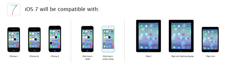 iOS 7 will be compatible with