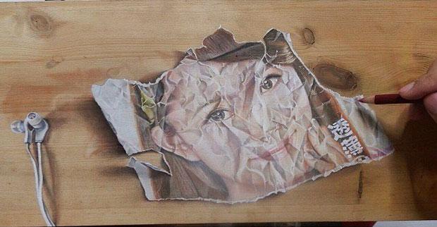 ภาพวาด 3 มิติ กระดาษ